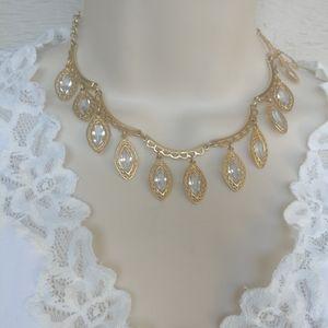 Vintage Swarovski White Crystal Necklace Choker